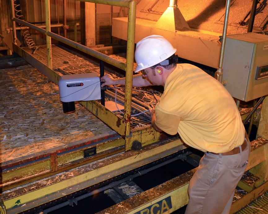 MCT 460-WP cảm biến đo độ ẩm online trên dây chuyền sản xuất gỗ
