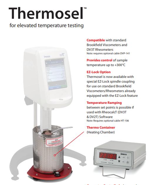 Thiết bị kiểm soát nhiệt độ Thermosel Brookfield