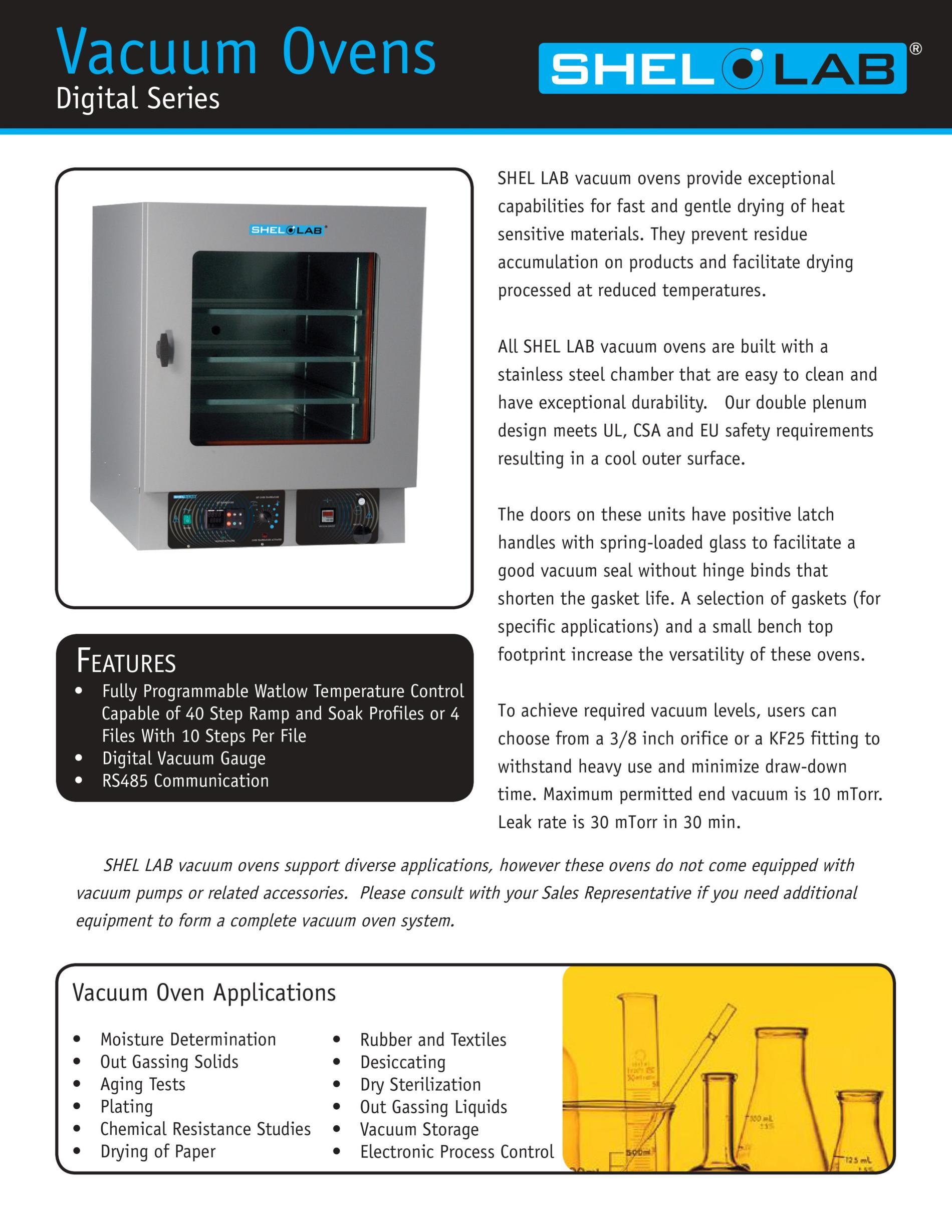 Vacuum Ovens Digital Series SVAC | SVAC1 | SVAC2 | SVAC4