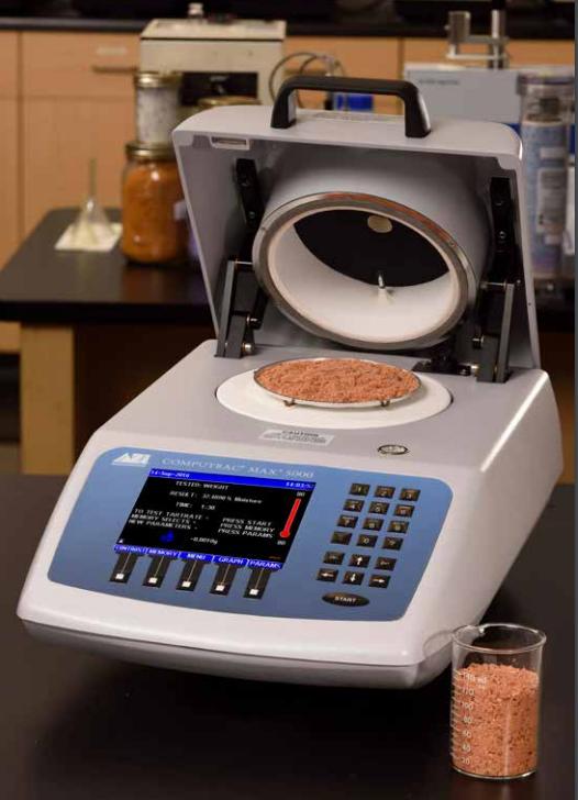 Máy phân tích độ ẩm, chất rắn và tro MAX 5000XL Computrac